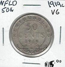 Canada Newfoundland NFLD 1919c 50 Cents VG Lot#3