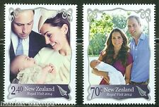 NEW ZEALAND ROYAL VISIT OF PRINCE GEORGE, KATE & WILLIAM SET OF TWO MINT NH
