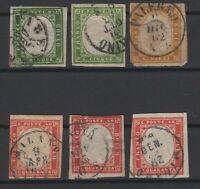 G129516/ SARDINIA / SASSONE # 13 (x2) – 14 – 16 (x3) USED – CV 305 $