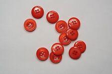 10pc 15mm Rosso Salmone Camicia Blusa Cardigan Bambino Kids pulsante 0739