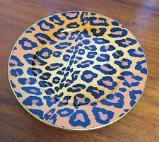 Hollywood Regency Palm Beach French Limoges Porcelain Leopard Plate 2 Available