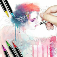20/24/48 Colors Art Oil Watercolor Drawing Painting Brush Sketch Manga Pen Set