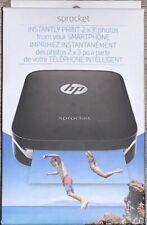 HP Sprocket 100 Portable Photo Instant Zink Printer Black X7N08A(SEALED)‼️✅🌟‼️