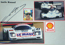 Loris Kessel 1950~2010 SIGNED Loris Kessel Racing Promocard , F1/LeMans