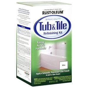 Bathtub Refinishing Kit White Tub And Tile Paint 2-Part Epoxy Acrylic Repair
