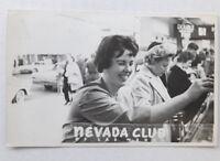 Las Vegas Nevada Club Real Photo Postcard Casino 1950s Cars Women