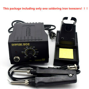 902 ESD SMD Double Soldering Electric Iron Tweezer Handle Clip Heating Plier 24V