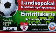 Landespokal MV Sturmvogel Lubmin - Hansa Rostock 13.10.2018