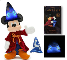 More details for rare light-up disney store mickey sorcerer apprentice soft toy halloween xmas