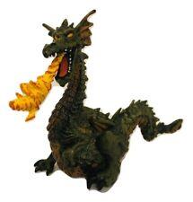 "Papo Fire Breathing Green Dragon 4"" Figurine 1999 EUC"