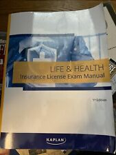 Kaplan Life & Health Insurance License Exam Manual 1st Edition New (used For Ct)