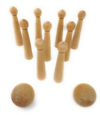 Cooperman Tabletop Ninepins Wooden Game Played In Colonial Times