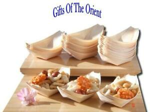 Bamboo Wood Boats x 100 for party foods