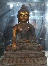 "19 ""Old Chinese Bronze Gilt Shakyamuni Amitabha Tathagata Buddha statues"