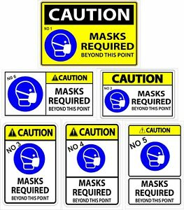 Please wear a face mask to enter this shop - Vinyl Stickers or Plastic boards