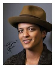 BRUNO MARS SIGNED AUTOGRAPHED A4 PP PHOTO POSTER