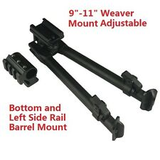 "Weaver Rail Bipod 9""-12"" and Bottom and Left Side Rail Tube Mount Combo W: 39mm"