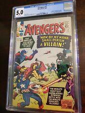 "Avengers #15 CGC 5.0 (W) ""Death"" of original Baron Zemo Black Knight appearance"