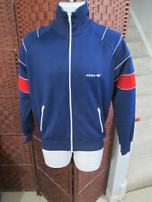 Vintage 80's Adidas Full Zip Track Jacket Men's Medium Blue Red White
