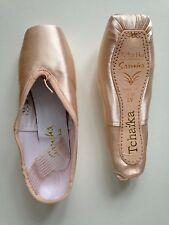 1 X COPPIA SANSHA tchaika 403 Balletto Scarpe Pointe, Taglia 9, Larghezza M