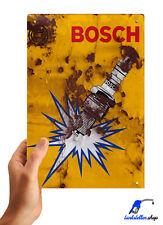 ⭐ Bosch Blechschild 20x30cm Retro Nostalgie Vintage Auto Garage Werkstatt Deko ⭐