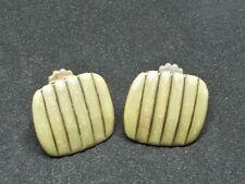 BIJOU 05 Clips métal doré émaillé Boucles d'oreilles Vintage 70 clips earrings