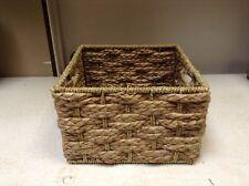 Sm SQUARE Seagrass Storage Organizer Toy Bath Office Craft Art Basket 9.5x9.5