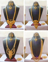 Indian 22K Gold Plated Fancy Variation Bridal Gorgeous Necklace Earrings Set AA