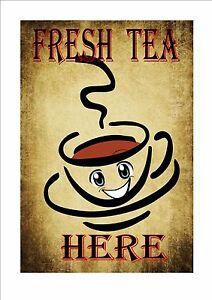 Cafe Sign Vintage Style Cafe Sign Shop Sign Coffee Tea Room Sign Kitchen Sign