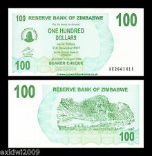 Zimbabwe 2006 100 Dollars Bearer P-42 Mint UNC Uncirculated Banknotes