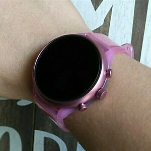New Fossil Women's Gen 4 Hot Pink Clear Silicone Touchscreen Sport Smartwatch