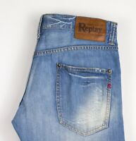 Replay Hommes Jeans Jambe Droite Taille W30 L34 ATZ823