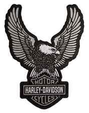Harley-Davidson Embroider Reflective Up-Wing Eagle Emblem, LG 6 x 8 in EM328754