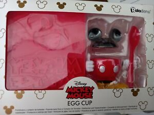 New Disney Mickey Mouse Kids Egg Cup &Toast Stamp Set stocking filler gift
