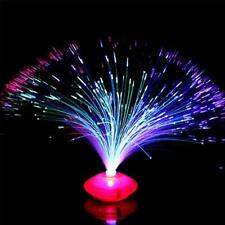 LED Multi Colour Changing Fibre Optic Fountain Night Light Lamp Home Decoration~