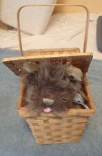 The Wizard of Oz Toto in a Basket Costume Accessory Plush