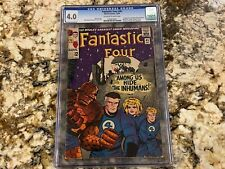 FANTASTIC FOUR #45 CGC 4.0 OW-WH PAGES 1ST INHUMANS & LOCKJAW MARVEL KEY BOOK