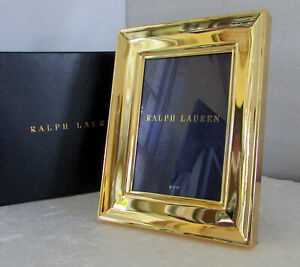 """Ralph Lauren Home Cove 18K Gold-Plated Frame 5"""" X 7"""" New In Box"""