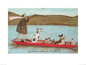 Sam Toft Woofing along on the River Art Print 60 x 80 cm Officially Licensed