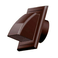 "Brown Gravity Flap 100mm 4"" External Ducting Ventilation Cover Air Vent Grille"