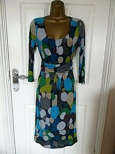 """Bowden Size UK-8-10 Shift dress with long sleeves  Multicoloured BUST 34"""""""