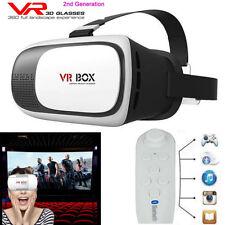 Virtual Reality 3D VR Brille Box 2.0 + Fernbedienung Gamepad für Samsung iPhone