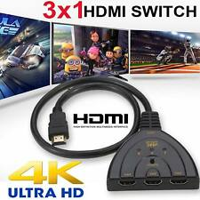 HDMI Switch Hub Splitter Adapter 4K 3 in 1 Multi 1080P Display Auto Cable HD TV