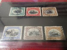 U.S. Stamp - 1901 Pan American Issue  - Used - Cat. No. 294,295,296,297,298,299