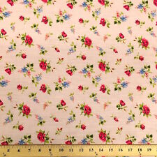 Delilah Pink Print Fabric Cotton Polyester Broadcloth By The Yard 60""