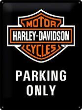 HARLEY-DAVIDSON - TIN SIGN - HD PARKING ONLY - GARAGE MAN CAVE - IDEAL GIFT