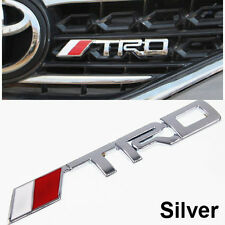 1 Pcs Car Grill Kidney Silver Emblem TRD Badge Decal Sticker For Toyota S201