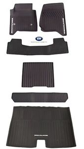 2015-2019 Cadillac Escalade ESV Premium All Weather Mat Package Black Genuine OE