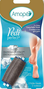 Amope Pedi Perfect Refill 1 Coarse and 1 Soft Touch Roller Head NEW