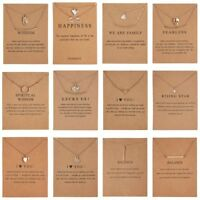 Gold Plated Necklace Clavicle Gold/Silver Chain Pendant Gift Jewellery With Card